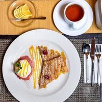 Franse toast en thee foto