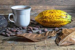 kopje warme chocolademelk foto