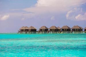 Maldiven, Zuid-Azië, 2020 - Resort op een tropisch eiland foto