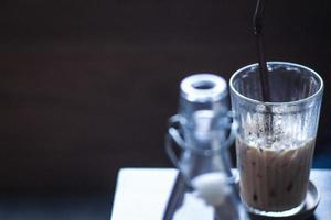 ijskoffie latte foto