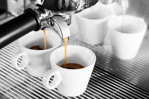 selectieve kleur van espresso