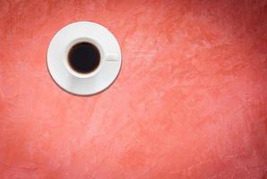 bovenaanzicht van witte koffiekopje