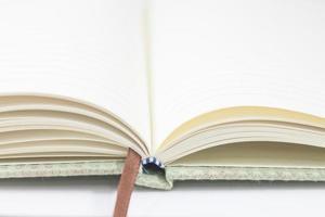close-up van een notitieboekje