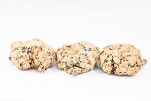gezonde cookies geïsoleerd op een witte achtergrond