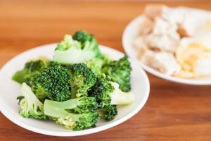 broccoli op een tafel