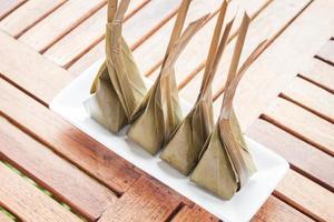 dessert met gestoomde kokosnoot
