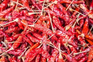 gedroogde rode paprika's