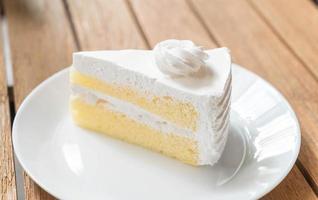kokos cake op plaat foto
