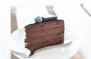 chocolade fudge cake foto