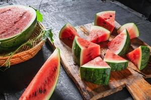 verse watermeloen plakjes