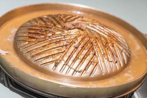 close-up van een elektrische bbq-grill foto