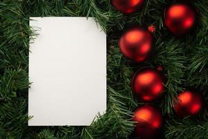 vrolijk kerstpapier notitie mockup