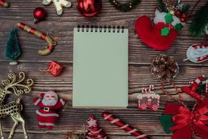 Kerst achtergrond lege decoratie voor tekst foto