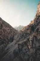 hoogste top van de bergketen foto