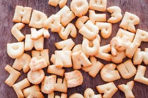 close-up van alfabet koekjes