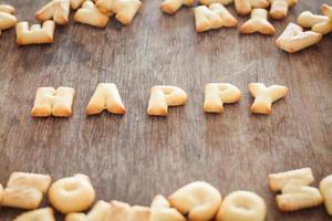 gelukkige alfabetkoekjes