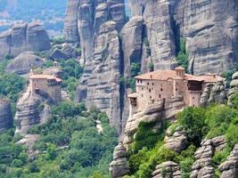 Griekenland 2018-natuurlijk werelderfgoed in Kalampaka, meteora genaamd