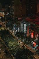 taipei, taiwan, 2020 - luchtfoto van hoogbouw foto