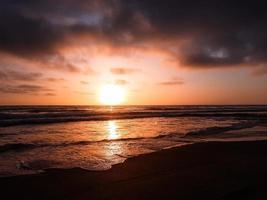 zonsondergang over een strand in Tijuana