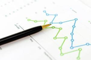 grafieken en een pen