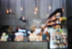 wazig café achtergrond foto
