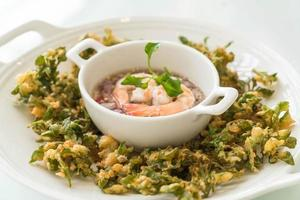 waterkers knapperige pikante salade foto