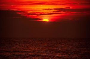 zonsondergang over de oceaan