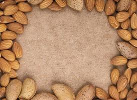 frame van noten met kopie ruimte foto