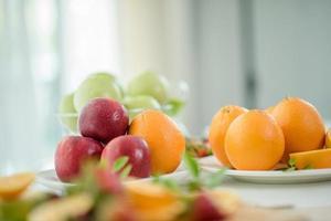 een verscheidenheid aan vers fruit