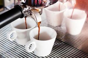 espresso in een coffeeshop