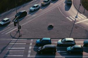 bovenaanzicht van diverse voertuigen foto