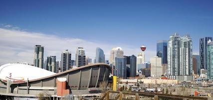 Alberta, Canada, 2020 - Downtown Alberta gedurende de dag