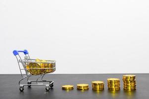 concept van financiële groei met munten