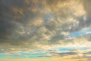 hemel bij zonsondergang foto
