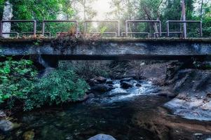 brug in het Khao Chamao Waterfall National Park foto