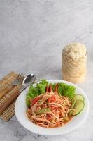 Thaise papajasalade foto