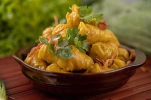 gestoomde dumplings van varkensvlees foto