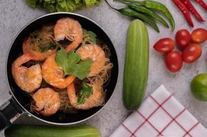 thaise gebakken garnalen foto