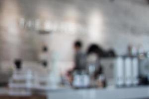 onscherpe koffie tegenachtergrond foto