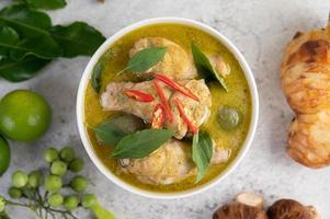 groene curry kip