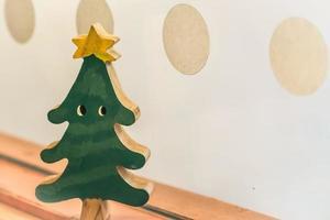 houten kerstboom foto