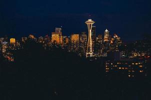 Seattle nachtelijke hemel foto