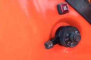 close-up van lichten op een tractor