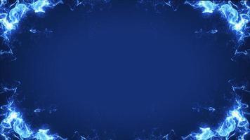 vuur frame op blauwe achtergrond foto