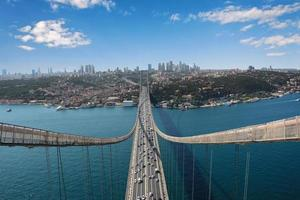 Istanbul uitzicht vanaf de brug foto