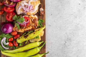 kippenbiefstuk met geroosterde groenten