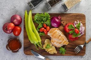 kippenbiefstuk met diverse groenten