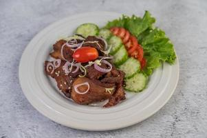 gebakken varkenssalade