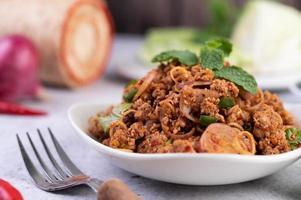 gastronomisch gekruid varkensgehakt