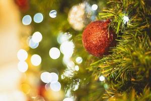 kerstboom en verlichting foto